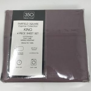 Fairfield Square King Size Sheet Set Lavender 350